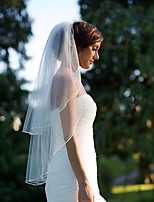 Wedding Veil Two-tier Blusher Veils Fingertip Veils Pencil Edge Tulle