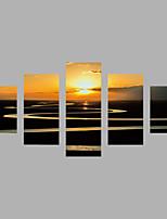 Tela de impressão Abstracto,5 Painéis Tela Horizontal Estampado Decoração de Parede For Decoração para casa