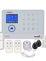 WIFI GSM RFID Security Alarm System with Camera IP Option for Home House Burglar Intruder Safety Voice Prompt Android App Control