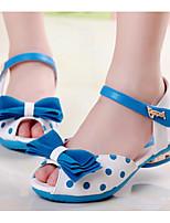 Girls' Sandals Comfort Summer PU Casual Blue Fuchsia Black Flat