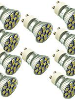 1.5W Spot LED 12 SMD 5050 130 lm Blanc Chaud Blanc Froid Décorative AC220 V 10 pièces GU10