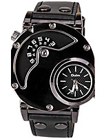 Oulm Муж. Спортивные часы Нарядные часы Модные часы Уникальный творческий часы Кварцевый Кожа Группа Cool Повседневная Черный