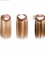 20inch Hidden Secret Wire Straight 100% Human Hair Extension Easy Wear 120g