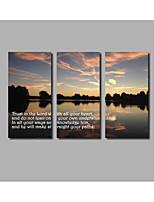 Impresión de lienzo Abstracto,Tres Paneles Lienzos Horizontal Estampado Decoración de pared For Decoración hogareña