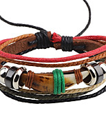 Men's Leather Bracelet Vintage Personalized Leather Round Jewelry For Casual Street