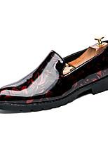 Для мужчин обувь Дерматин Осень Зима Формальная обувь Туфли на шнуровке Для прогулок Шнуровка Назначение Свадьба Повседневные Для