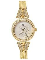 Mulheres Relógio de Pulso Bracele Relógio Simulado Diamante Relógio Quartzo Cronógrafo Impermeável Luminoso Aço Inoxidável Banda
