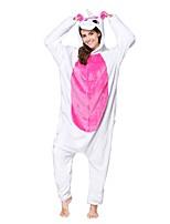 Кигуруми Пижамы Unicorn трико/Комбинезон-пижама Фестиваль / праздник Нижнее и ночное белье животных Хэллоуин Цвет фуксии Белый Зеленый