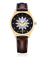 Women's Dress Watch Fashion Watch Wrist watch Casual Watch Chinese Quartz PU Band Candy color Flower Charm Elegant Casual Black White