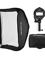 andoer foto multifuncional 80 * 80cm plegable softbox con s-tipo handheld flash speedlite soporte con bowens montar y llevar bolsa para el