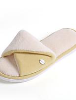 Для женщин Тапочки и Шлепанцы Удобная обувь Флисовая подкладка Зима Мех Повседневные На плоской подошве Серый Желтый Синий Розовый На