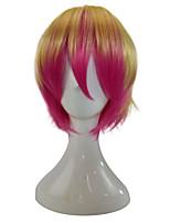 Femme Perruque Synthétique Sans bonnet Court Raide Or rose Cheveux Colorés Perruque de Cosplay Perruque de fête Perruque Déguisement