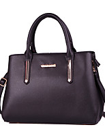 Women Bags All Seasons PU Tote with for Formal Office & Career Black Red Blushing Pink Gray Purple