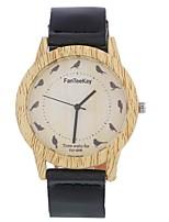 Муж. Жен. Модные часы Часы Дерево Наручные часы Уникальный творческий часы Китайский Кварцевый Кожа Группа Винтаж С подвесками Элегантные