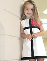 Girl's Birthday Casual/Daily Holiday Geometric Dress,Cotton Summer Sleeveless