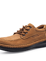 Men's Shoes Real Leather Nubuck leather Cowhide Nappa Leather Fall Winter Driving Shoes Formal Shoes Comfort Oxfords Lace-up For Casual