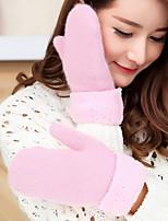 Для женщин Аксессуары На каждый день Мультяшная тематика Зимние перчатки Сохраняет тепло Вязаная одежда Милый Мода До запястья С пальцами,