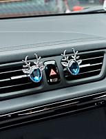 voiture air outlet grille parfum tout le chemin à la paix cristal une paire de matériel en alliage de zinc purificateur d'air automobile