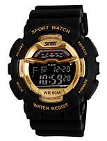 yy1012 skmei montre-bracelet numérique 5atm résistant à l'eau montre hommes montre de sport en plein air avec réveil de calendrier
