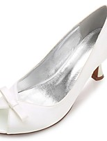 Femme Chaussures de mariage Confort Escarpin Basique Printemps Eté Satin Mariage Habillé Soirée & Evénement Noeud Applique Fleur en Satin