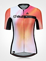 Cycling Jersey Women's Short Sleeves Bike Jersey Fast Dry Quick Dry High Elasticity YKK Zipper Stretchy Polyester Stripe Fashion Summer
