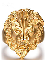 Men's Band Rings Jewelry Bohemian Stainless Steel Lion Jewelry For Party Daily