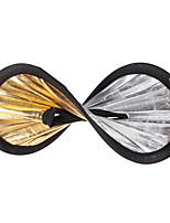 andoer 30cm 2in1 round creux collapableible multi-disque portable circulaire lumière-objectif réflecteur argent doré