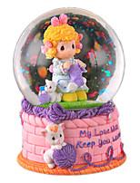 Music Box Round Cartoon Crystal