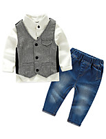 Boys' Solid Sets,Cotton Fall Long Sleeve Clothing Set