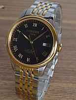 Муж. Механические часы С автоподзаводом Защита от влаги сплав Группа Серебристый металл Золотистый