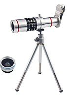 3 в 1 комплект объективов для смартфонов 18-кратный оптический зум телеобъектив 0.45x широкоугольный объектив 15-кратный макро-объектив