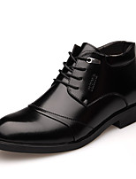 Men's Oxfords Fur Lining Fluff Lining Formal Shoes Comfort Fall Winter Real Leather Leather Casual Office & Career Lace-up Flat Heel