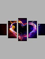 Impresión de lienzo Abstracto,Cinco Paneles Lienzos Horizontal Estampado Decoración de pared For Decoración hogareña