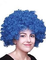 Femme Court Frisé Jerry Bleu Perruque afro-américaine Perruque de fête Perruque Halloween Perruque de carnaval Perruque Déguisement