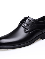 Men's Shoes Real Leather Leather Fall Winter Comfort Formal Shoes Oxfords Flat Heel Pointed Toe Round Toe Lace-up For Casual Office &