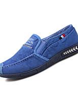Для мужчин Мокасины и Свитер Удобная обувь Весна Осень Полиуретан Повседневные На плоской подошве Темно-синий Серый Синий На плоской