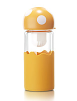 Outdoor Wear to work Casual/Daily To-Go Drinkware 380 Silica Gel Glass Tea Water Water Bottle