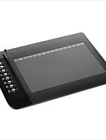 ugee 1000l цифровая живопись p51 рисунок перо графический планшет 10 x 6 дюймов площадь поверхности 2048 уровней 4000 lpi разрешение