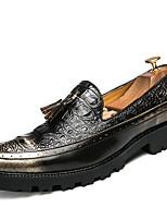 Для мужчин Мокасины и Свитер Формальная обувь Осень Зима Лакированная кожа Повседневные Для праздника Для вечеринки / ужина Черный