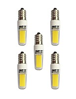 3W Luces LED de Doble Pin T 2 COB 240 lm Blanco Cálido Blanco AC 100-240 V E14