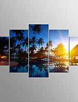 Stretched Canvas Print Five Panels Horizontal Print Wall Decor For Home Decoration