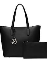 conjunto de la bolsa de las mujeres PU todas las temporadas oficina casual&carrera gris negro