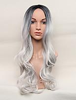 Women Synthetic Wig Capless Long Body Wave Silver Lolita Wig Party Wig Halloween Wig Carnival Wig Cosplay Wigs Natural Wig Costume Wig