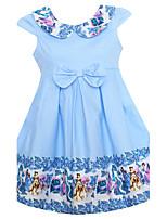 Vestido Chica de Cumpleaños Noche Casual/Diario Vacaciones Estampado Algodón Manga Corta Verano