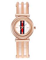 Жен. Часы-браслет Китайский Кварцевый Позолоченное розовым золотом сплав Группа Люкс Серебристый металл Розовое золото