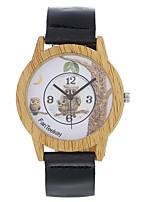 Муж. Жен. Модные часы Часы Дерево Наручные часы Уникальный творческий часы Китайский Кварцевый Кожа Группа Винтаж С подвесками Сова