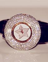 Жен. Модные часы Часы со стразами Цифровой Pезина Группа Блестящие Черный