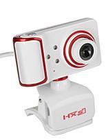 webcam usb giratorio ángulo de enfoque cámara pc incorporado micrófono / 3 leds / clip estilo / pantalla hd