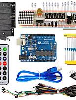 kit de iniciación kt003 uno con placa de pan / sensor / luz led para arduino diy partes