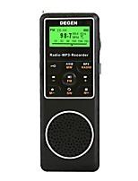 DE1127 Radio portatil Despertador Reproductor MP3 Energía Solar Linterna Tiempo de dormir Negro